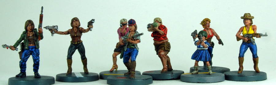 Female Apocalypse Survivors 28 Mm Plastic