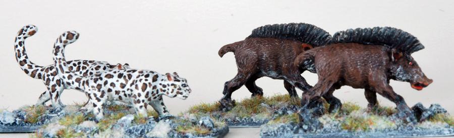 Frostgrave Snow Leopard & Boar