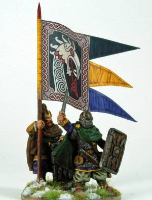 Rus Warlord And Banner
